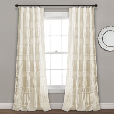 "84"" x 42"" Nova Ruffle Window Curtain Panels Set - Lush Decor"