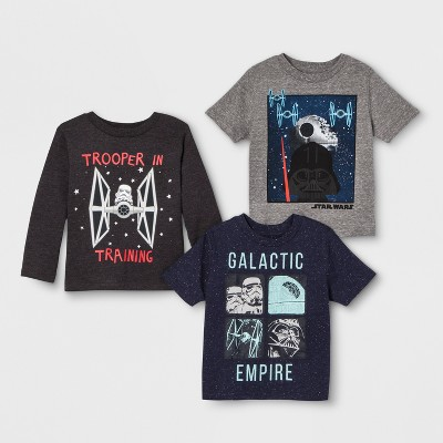 Toddler Boys' 3pk Star Wars T-Shirts - Gray/Blue
