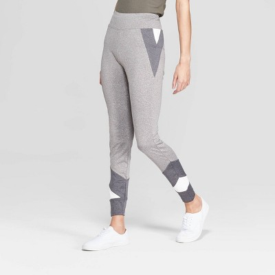 Women's Wide Waistband Colorblock Leggings - Xhilaration™ Charcoal