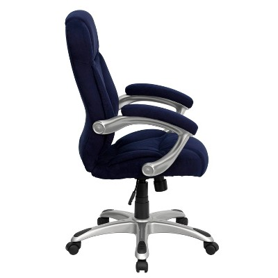 microfiber office chair high fisher price contemporary executive swivel navy blue flash furniture target