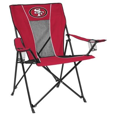 49ers camping chair grey recliner uk nfl san francisco portable game time quad target logo brands
