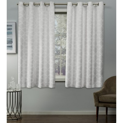 Cartago Insulated Woven Blackout Grommet Top Window Curtain Panel Pair - Exclusive Home™