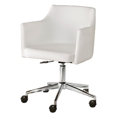 target white desk chair living room chaise lounge chairs baraga home office swivel signature design by ashley