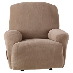 Recliner Chair Covers Grey Brookstone Massager Stretch Pixel Corduroy Slipcover Taupe Sure Fit Target