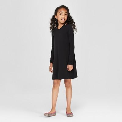 Girls' Long Sleeve A Line Dress - art class™