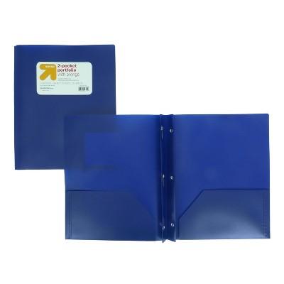 plastic folder with prongs
