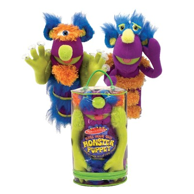 Melissa & Doug® Make-Your-Own Fuzzy Monster Puppet Kit With Carrying Case (30pc)
