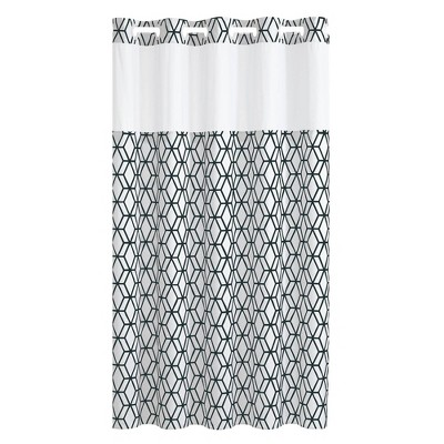 Prism Geometric Shower Curtain with Liner - Hookless