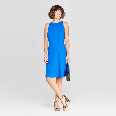 Women's Sleeveless Crewneck Linen Dress - A New Day™