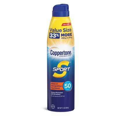 Coppertone Sport C Sunscreen Spray - SPF 50 - 7.3oz : Target
