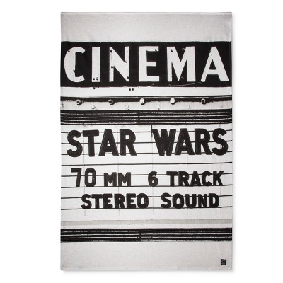 Star Wars® Cinema White Bed Blanket (Twin)