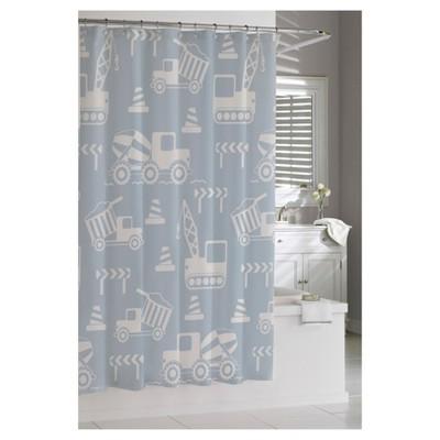 Builders Shower Curtain Blue - Cassadecor