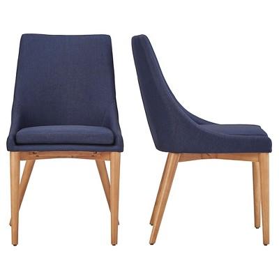 mid century barrel dining chair office chairs discount sullivan oak back set of 2 twilight inspire q target