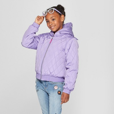 Girls' Animal Puffer Jacket - Cat & Jack™ Violet