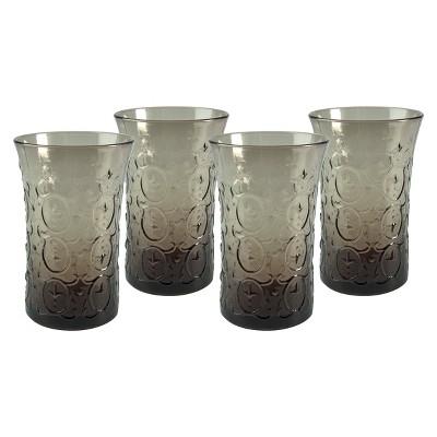 Artland Echo 12oz 4pk Highball Glasses Gray