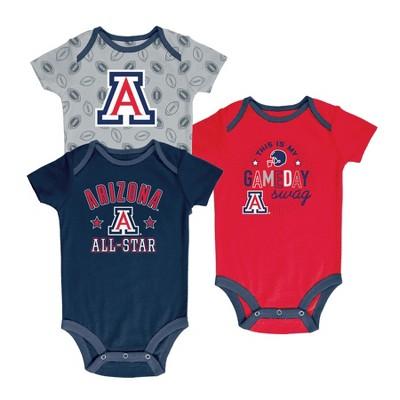 Arizona Wildcats Baby Boy Short Sleeve 3pk Bodysuit