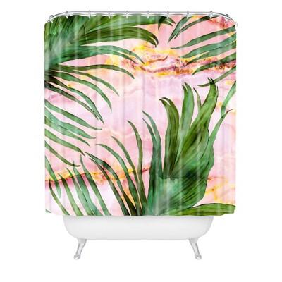 marta barragan camarasa palm leaf shower curtain pink deny designs