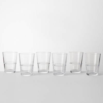 16.4oz Glass Stackable Tall Tumbler - Made By Design™