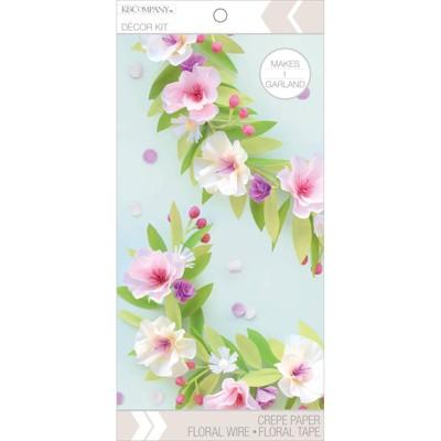 K&Company Flower Garland Decor Paper Kit