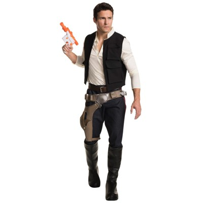 Star Wars Men's Han Solo Grand Heritage Halloween Costume One Size - Rubie's