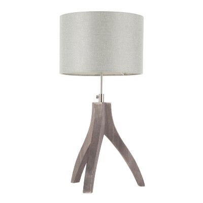 Wishbone Contemporary Table Lamp Light Gray (Lamp Only) - LumiSource