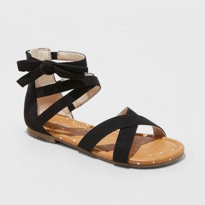 Girls' Rayna Microsuede Gladiator Sandals - Cat & Jack™ Black
