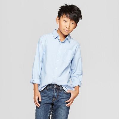 Boys' Long Sleeve Button-Down Shirt - Cat & Jack™ Blue