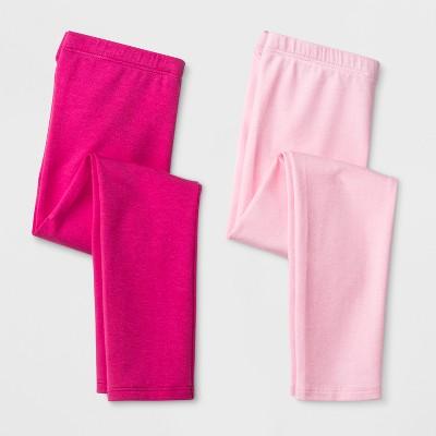 Toddler Girls' 2pk Leggings - Cat & Jack™ Magenta Pink & Light Pink