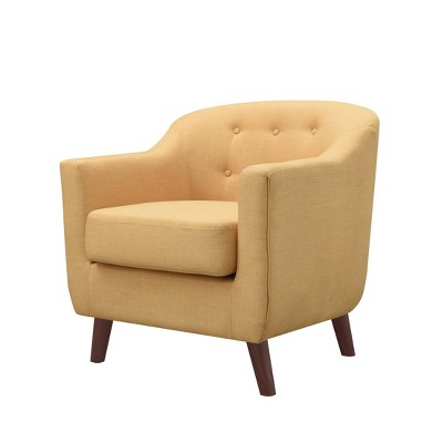yellow upholstered accent chair sofa mart chairs belka tufted ray target mibasics