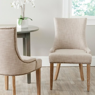 safavieh dining chairs belmont dental prices lester chair beige set of 2 target