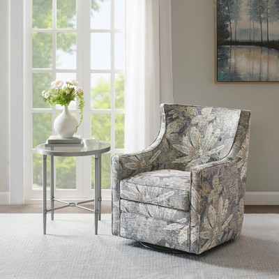 blue glider chair spandex covers vancouver aaron curve back swivel target