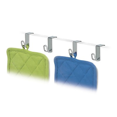 Lynk Professional 4pk Over Cabinet Door Hooks Chrome