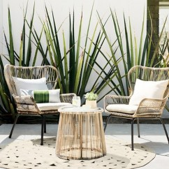 Patio Chairs For Cheap Best Desk 2018 Latigo 3pc All Weather Wicker Outdoor Chat Set Tan Threshold