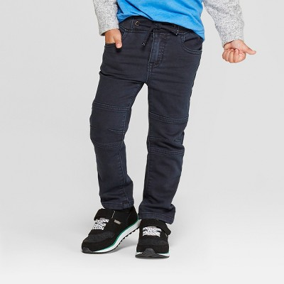 Genuine Kids® from OshKosh Toddler Boys' Pull-On Moto Skinny Jeans - Charcoal Gray