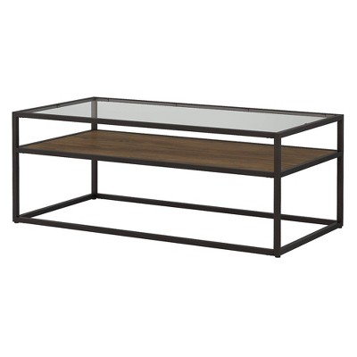 anthropology glass top coffee table brown bush furniture