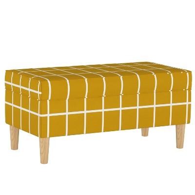 storage bench rectangle grid mustard skyline furniture