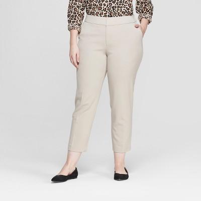 Women's Plus Size Slim Ankle Trouser Pants - Ava & Viv™