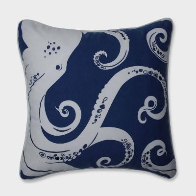 ollie octopus throw pillow blue pillow perfect