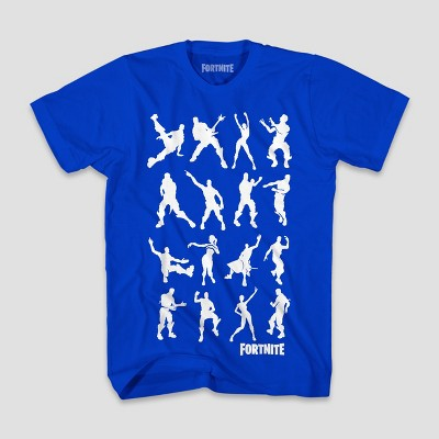 Boys' Fortnite Dance Dance Short Sleeve T-Shirt - Royal Blue