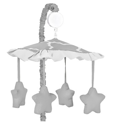 Sweet Jojo Designs Gray & White Trellis Musical Mobile - Gray