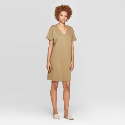 Women's Short Sleeve V-Neck T-Shirt Dress - Prologue™
