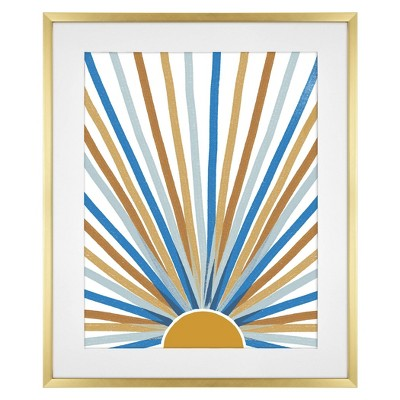 20 x 24 matted to 16 x 20 thin poster frame brass room essentials