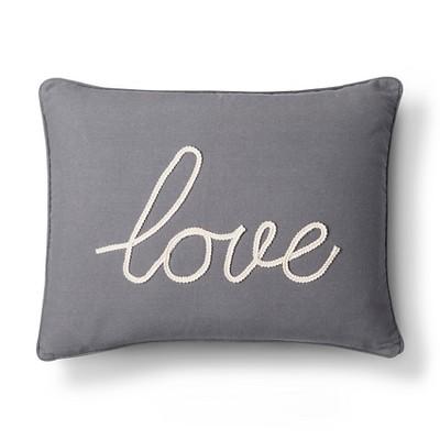 gray love throw pillow 20 x 20 homthreads