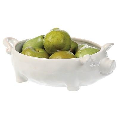 3R Studios 12.5in Ceramic Bowl - White