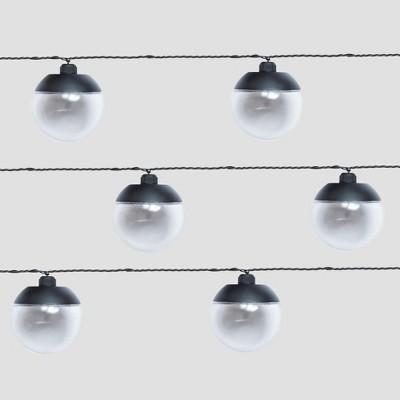 10ct Outdoor LED String Lights Black Cap - Project 62™