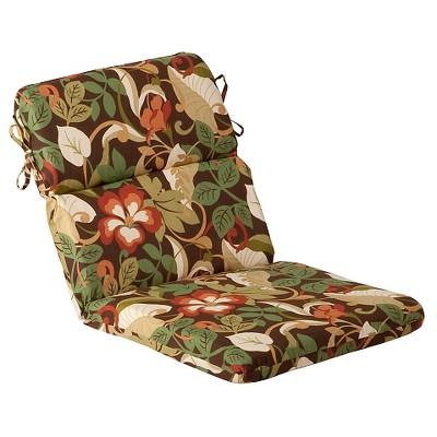 outdoor chair cushion brown green floral