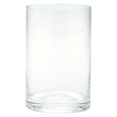 "Diamond Star Glass Cylinder Vase Clear (6""x4"")"
