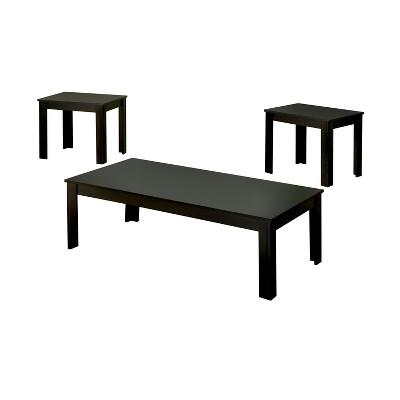bosley modern accent table set black mibasics