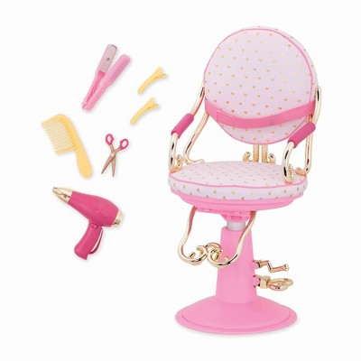 doll salon chair antique birthing pictures our generation sitting pretty gold hearts target