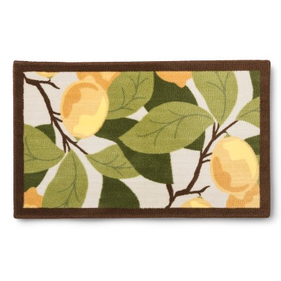 lemon kitchen rug countertops seattle tree floor mat 30 x46 maples target